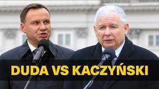 Kaczyński pokazał Dudzie miejsce w szeregu