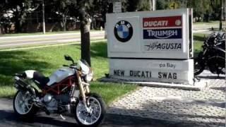 4. 2007 Ducati Monster S4RS White Euro Cycles of Tampa Bay