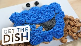 Cookie Monster Pull-Apart Cake | Get the Dish by POPSUGAR Food