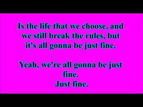 Just Fine Lyrics (Sam and Cat Theme Song) - Michael Corcoran
