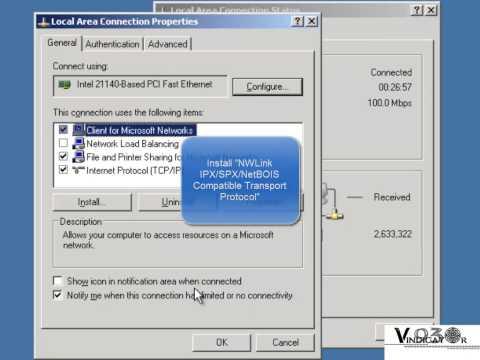 Linking Novell Netware (Windows Server 2003)