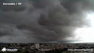 Confira o timelapse da chuva ocorrida na tarde desta quinta-feira em Sorocaba.