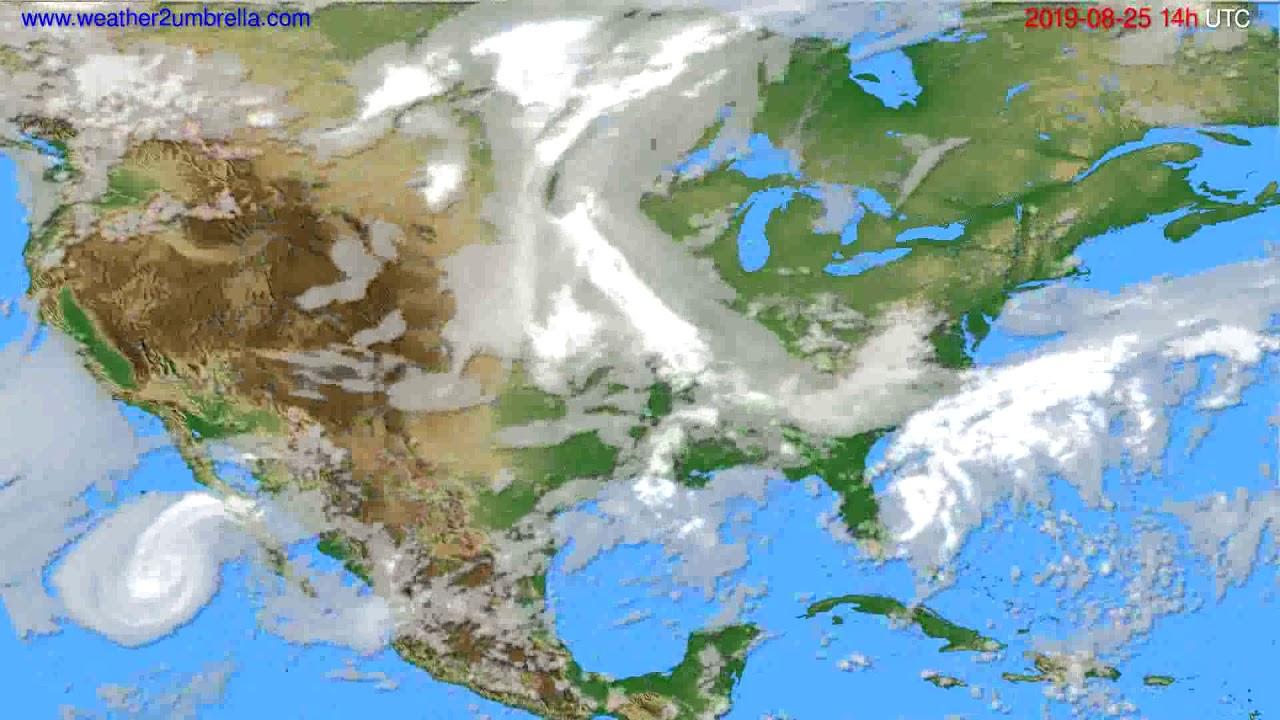 Cloud forecast USA & Canada // modelrun: 12h UTC 2019-08-23
