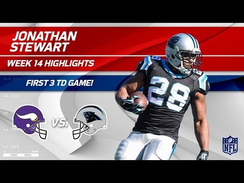 Video: Jonathan Stewart's 3 TD Game, 1st Time in Career! | Vikings vs. Panthers | Wk 14 Player Highlights
