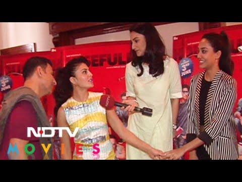 Akshay, Jacqueline on their Housefull 3 co-star Lisa Haydon