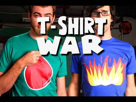 link - Now Watch T-SHIRT WAR 2 (a made-for-TV commercial for McD's and Coke): http://www.youtube.com/watch?v=iLoA6BpUWqQ GET this SONG on our 27-song CD (it has voc...