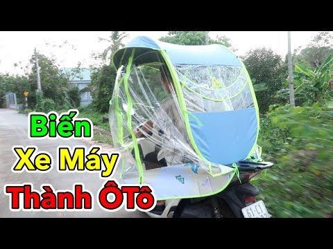 Lâm Vlog - Biến Xe Máy Thành Xe Ô Tô Chỉ Với 300k | Dù Che Mưa Nắng Cho Xe Máy - Thời lượng: 11 phút.