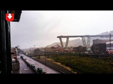 В Италии обрушился мост. Видео - DomaVideo.Ru