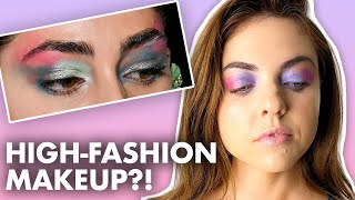 Recreating New York Fashion Week Makeup Looks! (Beauty Trippin) by Clevver Style