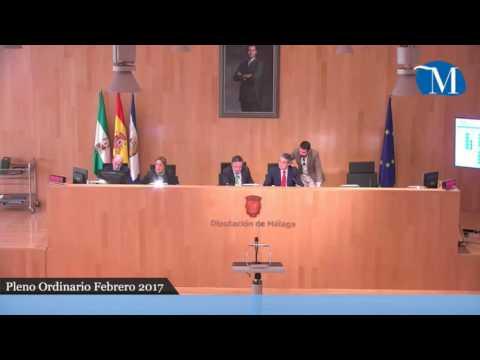 Pleno ordinario de la Diputación de Málaga del mes de febrero