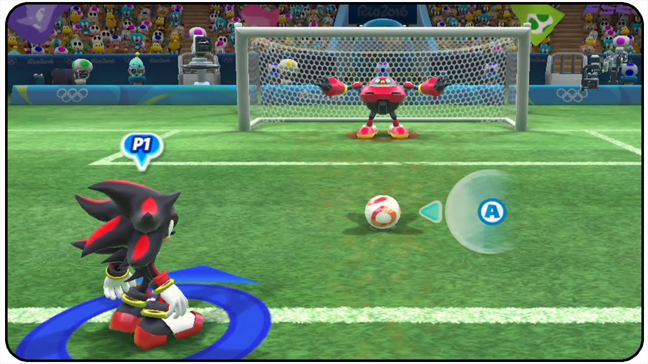 Mario and Sonic at the Rio 2016 Olympic Games (Wii U) – All Characters Football Gameplay