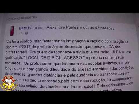Professora Bete Lima Venho a público, manifestar minha indignação e repúdio com relação ao decreto 4/2017 do Prefeito Ayres Scorsatto, que reduz o LDA,dos professores!!!!