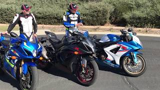 3. Worth upgrading? 2017 Suzuki GSX-R1000R vs. 2017 Suzuki GSX-R1000 vs. 2007 Suzuki GSX-R1000