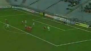 Rene Wagner Freistoß gegen den FC Linz