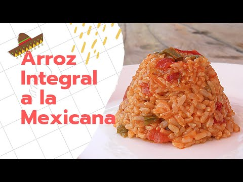 ARROZ INTEGRAL A LA MEXICANA 🍚🍴