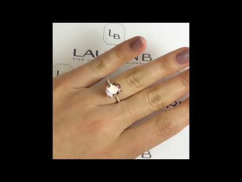 2.63 ct Oval Morganite Engagement Ring