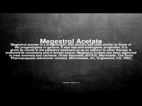 Medical vocabulary: What does Megestrol Acetate mean