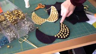 DIY Stud Collar Necklace - YouTube