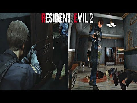 Resident Evil 2 Remake - Gameplay Comparison ORIGINAL vs REMAKE
