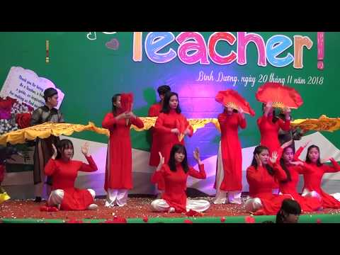 """Lễ kỉ niệm ngày nhà giáo Việt Nam (20.11.2018) """"Múa Thư pháp"""""""
