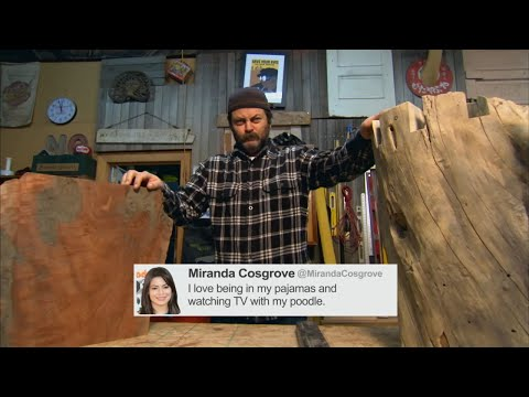 tweets - Nick Offerman reads the collected wisdom from Demi Lovato, Miley Cyrus, and more. More CONAN @ http://teamcoco.com/video.