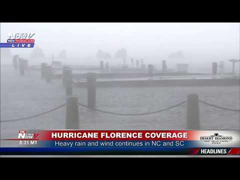 FNN: Tropical Storm Florence Pounds North Carolina and South Carolina With Rain and Flooding