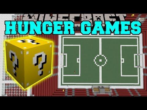 Minecraft: FOOTBALL STADIUM HUNGER GAMES – Lucky Block Mod – Modded Mini-Game