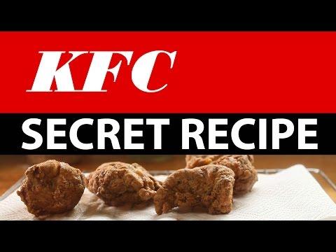 KFC Secret recipe accidentally revealed!  Watch how to make it!
