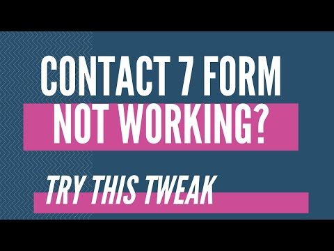 Contact Form 7 Not Working – WordPress Contact Form 7 Not Working 2014