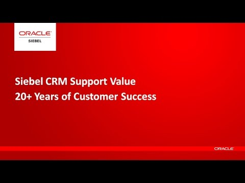 Siebel CRM - Oracle Support Value