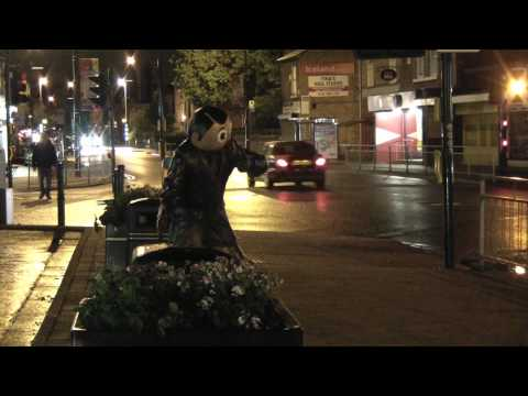 Frank Sidebottom Statue - The day before , the day, and the night after