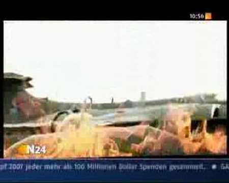 Aircraft Carrier Explosin