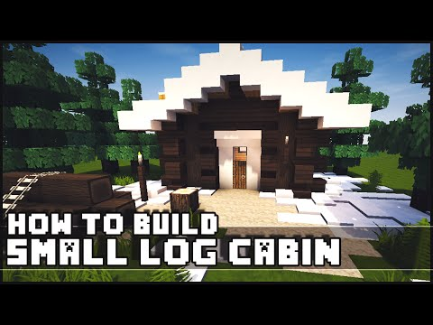 Minecraft – How to Build : Simple Small Log Cabin