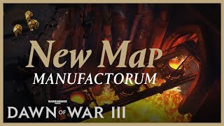 On July 20th, you'll be able to wage way on Dawn of War III's newest multiplayer map, Manufactorum! Available in both 2v2 and 3v3, Manufactorum is playable in all game modes.To keep up with all the latest news, features and updates, follow Dawn of War on social media:http://www.twitter.com/dawnofwarhttp://www.facebook.com/dawnofwar