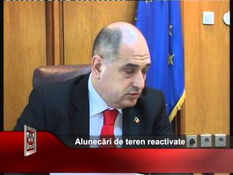 Alunecări de teren reactivate