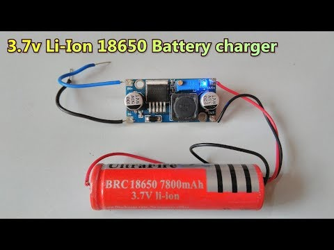 3.7v Li-Ion 18650 Battery charger using  LM2596 DC-DC buck converter | single battery