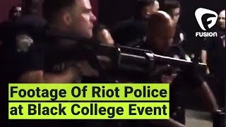 "Police in riot gear stormed an event full of black college students, shooting rubber bullets and arresting 5. Now UC Merced students are taking to the streets in protest.""I feared for my life...and I feared for everyone else that was in there.""Subscribe to Fusion: http://fus.in/subscribeVisit us at: http://www.fusion.netLike us at: https://www.facebook.com/fusionmedianetworkFollow us at: https://twitter.com/fusionView us: http://instagram.com/ThisIsFusionWatch more from Fusion friends:F-Comedy: https://goo.gl/Q27Mf7Fusion TV: https://goo.gl/1IbZ1BGizmodo: https://goo.gl/YTRLAEKotaku: https://goo.gl/OcnXv7Deadspin:  https://goo.gl/An7N8gJezebel:  https://goo.gl/XNsnCJLifehacker:  https://goo.gl/3rNmzwIo9:  https://goo.gl/ismnzPJalopnik:  https://goo.gl/u7sDEkSploid:  https://goo.gl/4yq2UYThe Root:  https://goo.gl/QMOjBE"
