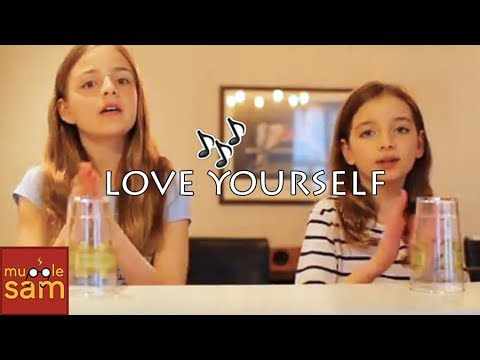 LOVE YOURSELF - Justin Bieber CUPS Song 🎵 13-Year-old Sophia And 10-Year-Old Bella