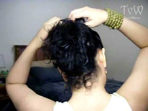Peinados rapidos para cabello ondulado o chino