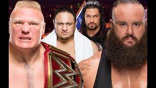 SummerSlam 2017 epic match WWE Fatal 4-Way por el Campeonato Universal: Brock Lesnar (c) (con Paul Heyman) vs. Samoa Joe vs. Roman Reigns vs. Braun Strowman....