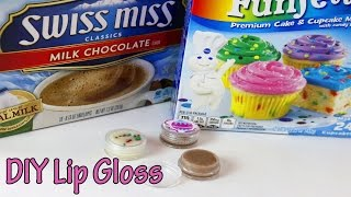 Funfetti Cake Batter lip gloss DIY | How to make Hot Cocoa lip gloss - YouTube