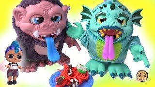 Play doh - Making Playdoh Food for Crate Creatures Surprise with LOL Surprise Punk Boi