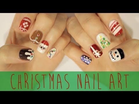 Nail - Want EVEN MORE Christmas nail art?! Click here for a playlist FULL of Christmas designs: http://www.youtube.com/playlist?list=PLrxrAcmX0sd4p4JEJr4qCetcrxtFHF...