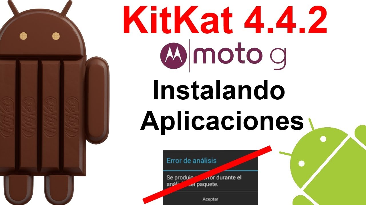 Descargar Motorola Moto G: KitKat 4.4.2 – Adiós al error de análisis (instalar apps apk)  [HD] para Celular  #Android