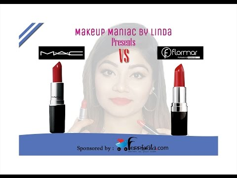 Best Mac Lipstick Dupes with Lip Swatches || 17 MAC Vs FLORMAR Lipstick dupes  || LINDA