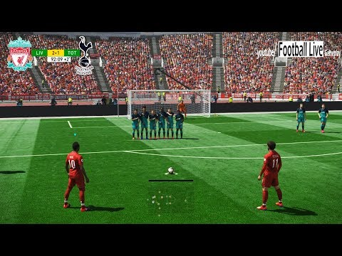 PES 2019 | Liverpool Vs Tottenham | S.Mane And M.Salah Free Kick Goal | Gameplay PC