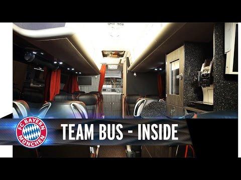 حافلة نادي بايرن ميونيخ الفخمة من الداخل