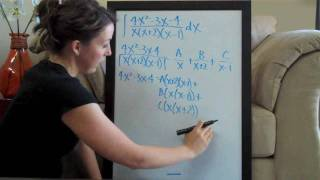 Partial Fractions Example 2 PART 1/2