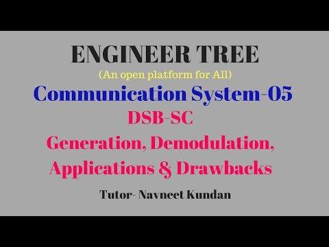 DSB-SC Generation I Demodulation I Applications I Drawbacks I Communication system - 05 in hindi