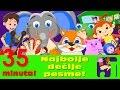 Razbole se lisica, Pet malih majmuna, Kad si srećan i druge | Pesme za decu